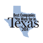 Texas Monthly Magazine Best company to Work in 2014
