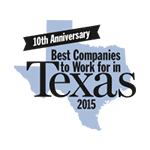 Texas Monthly Magazine Best company to Work in 2015
